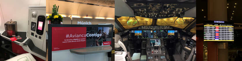 Collage Avianca Munich