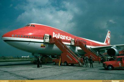 B747 Avianca en Bogotá 80's