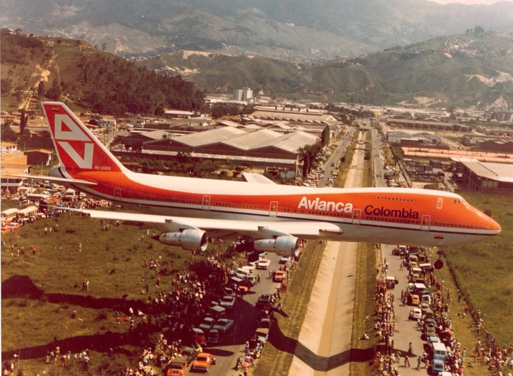 La llegada a Colombia del primer B747 deAvianca