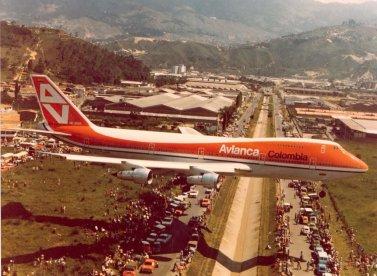 B747 Avianca Medellín